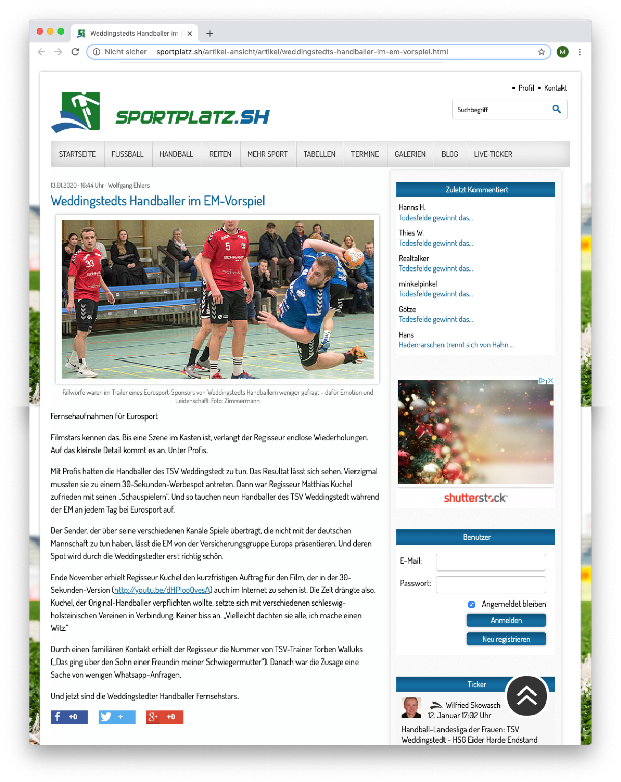 Sportplatz.SH
